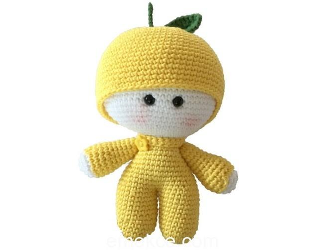 Amigurumi Bebek Tarifleri : Amigurumi limon bebek yapılışı emekce
