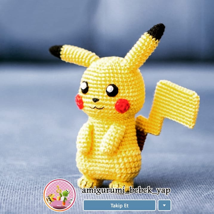 Häkelanleitung Pikachu | Sabrina's Crochet | 717x717